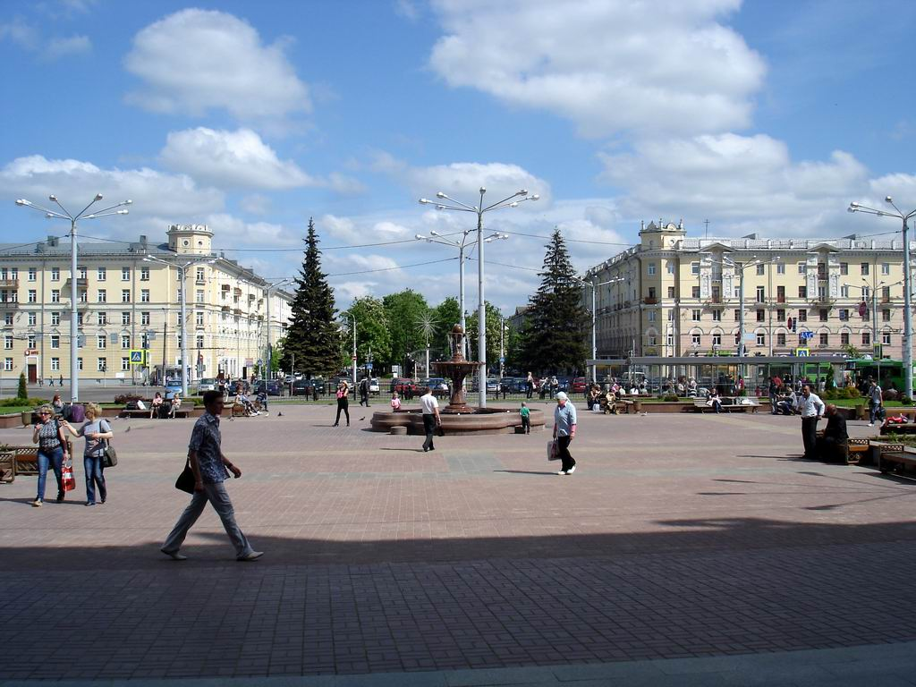 Railway Station Square - the face of Vitebsk.